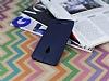 Asus ZenFone 5 Deri Desenli Ultra İnce Lacivert Silikon Kılıf - Resim 2