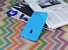 Asus ZenFone 5 Deri Desenli Ultra İnce Mavi Silikon Kılıf - Resim 2