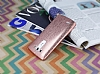 Eiroo Seams Fit LG G3 Ultra �nce Metalik Rose Gold Silikon K�l�f - Resim: 2
