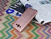 Eiroo Seams Fit Samsung Galaxy A8 Ultra �nce Metalik Rose Gold Silikon K�l�f - Resim: 1