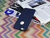 iPhone 6 Plus / 6S Plus Deri Desenli Ultra İnce Lacivert Silikon Kılıf - Resim 2
