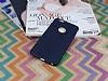 iPhone 6 Plus / 6S Plus Deri Desenli Ultra İnce Lacivert Silikon Kılıf - Resim 1