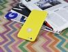 iPhone 6 Plus / 6S Plus Deri Desenli Ultra İnce Sarı Silikon Kılıf - Resim 2