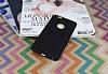 iPhone 6 Plus / 6S Plus Deri Desenli Ultra İnce Siyah Silikon Kılıf - Resim 1