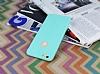 iPhone 6 Plus / 6S Plus Deri Desenli Ultra İnce Su Yeşili Silikon Kılıf - Resim 2