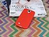 Samsung Galaxy i9500 S4 Deri Desenli Ultra İnce Kırmızı Silikon Kılıf - Resim 1