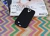 Samsung Galaxy i9500 S4 Deri Desenli Ultra İnce Siyah Silikon Kılıf - Resim 1