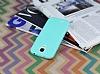 Samsung Galaxy i9500 S4 Deri Desenli Ultra İnce Su Yeşili Silikon Kılıf - Resim 2