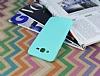 Samsung Galaxy J7 / Galaxy J7 Core Deri Desenli Ultra İnce Su Yeşili Silikon Kılıf - Resim 2