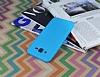 Samsung Galaxy J7 / Galaxy J7 Core Deri Desenli Ultra İnce Mavi Silikon Kılıf - Resim 2
