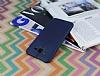 Samsung Galaxy J7 / Galaxy J7 Core Deri Desenli Ultra İnce Lacivert Silikon Kılıf - Resim 2