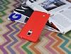 Samsung Galaxy Note Edge Deri Desenli Ultra İnce Kırmızı Silikon Kılıf - Resim 2