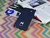 Samsung Galaxy Note Edge Deri Desenli Ultra İnce Lacivert Silikon Kılıf - Resim 2