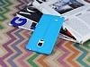 Samsung Galaxy Note Edge Deri Desenli Ultra İnce Mavi Silikon Kılıf - Resim 2