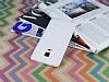 Samsung Galaxy Note Edge Deri Desenli Ultra İnce Şeffaf Beyaz Silikon Kılıf - Resim 2