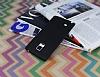 Samsung Galaxy Note Edge Deri Desenli Ultra İnce Siyah Silikon Kılıf - Resim 2