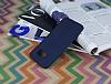 Samsung Galaxy S7 Edge Deri Desenli Ultra İnce Lacivert Silikon Kılıf - Resim 1