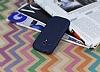 Samsung i8190 Galaxy S3 Mini Deri Desenli Ultra İnce Lacivert Silikon Kılıf - Resim 2