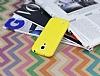 Samsung i9190 Galaxy S4 mini Deri Desenli Ultra İnce Sarı Silikon Kılıf - Resim 2