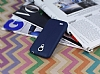 Samsung i9190 Galaxy S4 mini Deri Desenli Ultra İnce Lacivert Silikon Kılıf - Resim 2
