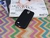 Samsung i9190 Galaxy S4 mini Deri Desenli Ultra İnce Siyah Silikon Kılıf - Resim 1