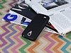 Samsung i9190 Galaxy S4 mini Deri Desenli Ultra İnce Siyah Silikon Kılıf - Resim 2