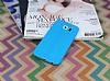 Samsung i9800 Galaxy S6 Deri Desenli Ultra İnce Mavi Silikon Kılıf - Resim 1