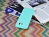 Samsung i9800 Galaxy S6 Deri Desenli Ultra İnce Su Yeşili Silikon Kılıf - Resim 2