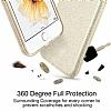 Eiroo Silvery General Mobile Android One Simli Gold Silikon Kılıf - Resim 2