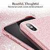 Eiroo Silvery iPhone X Simli Kırmızı Silikon Kılıf - Resim 2