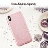 Eiroo Silvery iPhone X Simli Kırmızı Silikon Kılıf - Resim 3
