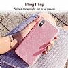 Eiroo Silvery iPhone X Simli Pembe Silikon Kılıf - Resim 4