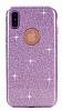 Eiroo Silvery iPhone X Simli Mor Silikon Kılıf - Resim 6