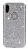 Eiroo Silvery iPhone X Simli Silver Silikon Kılıf - Resim 6