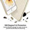 Eiroo Silvery LG K10 Simli Gold Silikon Kılıf - Resim 2
