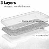Eiroo Silvery LG K10 Simli Silver Silikon Kılıf - Resim 1