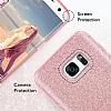Eiroo Silvery Samsung Galaxy A8 2018 Simli Gold Silikon Kılıf - Resim 4