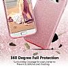 Eiroo Silvery Samsung Galaxy J7 Max Simli Gold Silikon Kılıf - Resim 4