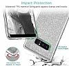 Eiroo Silvery Samsung Galaxy Note 8 Simli Selfie Yüzüklü Silver Silikon Kılıf - Resim 3