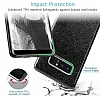 Eiroo Silvery Samsung Galaxy Note 8 Simli Selfie Yüzüklü Siyah Silikon Kılıf - Resim 3