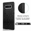 Eiroo Silvery Samsung Galaxy Note 8 Simli Selfie Yüzüklü Siyah Silikon Kılıf - Resim 2