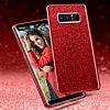 Eiroo Silvery Samsung Galaxy Note 8 Simli Selfie Yüzüklü Kırmızı Silikon Kılıf - Resim 2