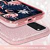 Eiroo Silvery Samsung Galaxy S20 Simli Pembe Silikon Kılıf - Resim 3
