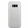 Eiroo Silvery Samsung Galaxy S8 Plus Simli Silver Silikon Kılıf - Resim 3