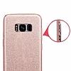 Eiroo Silvery Samsung Galaxy S8 Plus Simli Pembe Silikon Kılıf - Resim 2