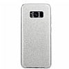 Eiroo Silvery Samsung Galaxy S8 Simli Silver Silikon Kılıf - Resim 3