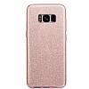 Eiroo Silvery Samsung Galaxy S8 Simli Pembe Silikon Kılıf - Resim 3