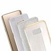 Eiroo Silvery Samsung Galaxy S8 Simli Gold Silikon Kılıf - Resim 1