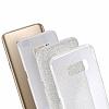 Eiroo Silvery Samsung Galaxy S8 Simli Silver Silikon Kılıf - Resim 1