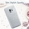 Eiroo Silvery Samsung Galaxy S9 Simli Silver Silikon Kılıf - Resim 7
